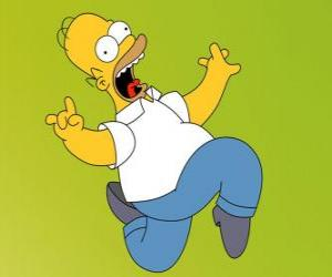 Układanka Homer Simpson ucieka przerażony