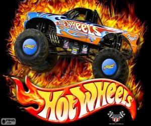 Układanka Hot Wheels Monster Truck w działaniu