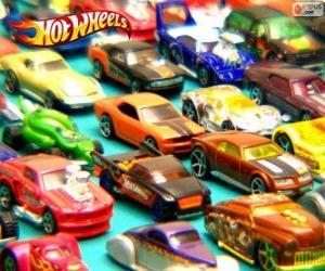 Układanka Hot Wheels samochody