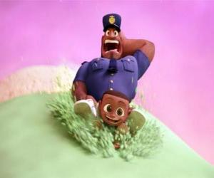 Układanka Hrabia Devereaux, policjant i jego Cal syna gałką lodów