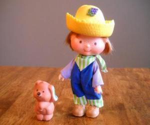 Układanka Huckleberry Pie bawi się ze swoimi Pupcake pies. On jest jednym z Truskawkowe ciastko przyjaciela
