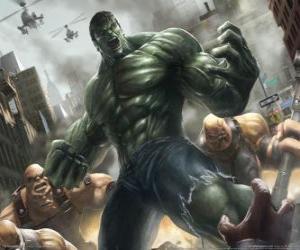 Układanka Hulk lub z praktycznie nieograniczoną moc jest jednym z najbardziej znanych superbohaterów
