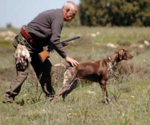 Układanka Hunter łowiectwa z psem