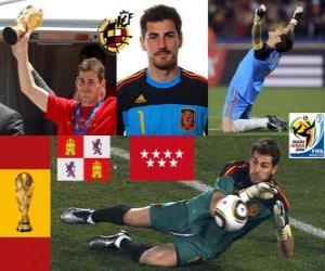 Układanka Iker Casillas (święty Móstoles) hiszpański bramkarz zespołu lub bramkarz