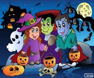 Układanka Impreza Halloween