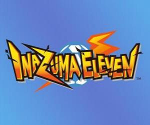 Układanka Inazuma Eleven logo. Gier wideo Nintendo i manga anime