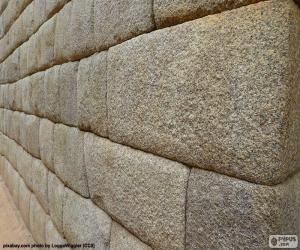 Układanka Inca ściany z kamienia