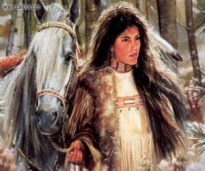 Układanka Indian girl z konia