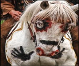 Układanka Indian koń