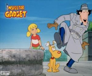 Układanka Inspektor Gadżet z jego siostrzenica Penny i jej mózgu Łepek