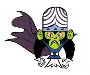 Układanka Inteligentne małpy Mojo Jojo jest największym wrogiem sióstr Utonium, Atomówki