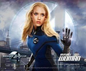 Układanka Invisible Woman i Invisible Girl w Fantastic Four
