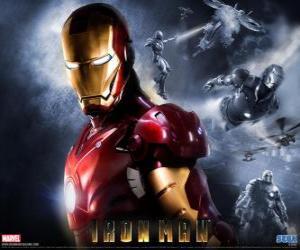 Układanka Iron Man ma bardzo mocny pancerz, który pozwala mu latać, daje nadludzką siłę i specjalną broń dostępna