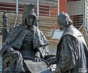 Układanka Isabel la Católica i Krzysztof Kolumb