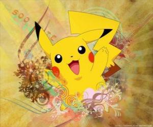 Układanka It's Pokémon myszy żółty, elektryczne typu.