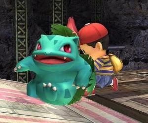 Układanka Ivysaur - typ Pokémonów trawa trucizna