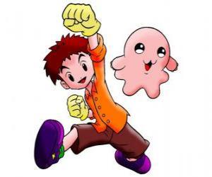 Układanka Izzy z jego digimon Motimon. Koushiro Izumi to bardzo inteligentny facet