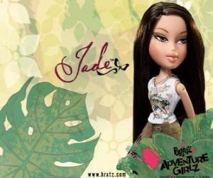 Układanka Jade: - Kool Kat - jest z Azji, z zielonymi oczami. Jego drugie imię to Marie, reprezentuje mądrość.