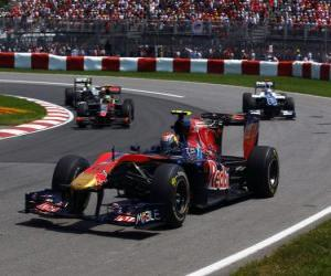 Układanka Jaime Alguersuari - Toro Rosso - Montreal 2010