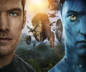 Układanka Jake Sully, morskie paraplegic swoje ruchy umysłu Avatar navi.