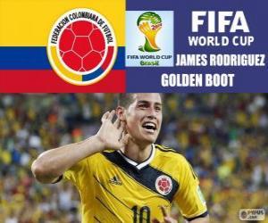 Układanka James Rodriguez, złoty zyski. Brazylia 2014 roku Puchar Świata