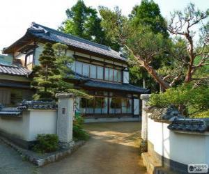 Układanka Japoński tradycyjny dom