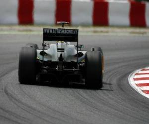 Układanka Jarno Trulli - Lotus - Barcelona 2010