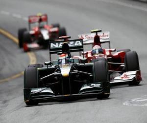 Układanka Jarno Trulli - Lotus - Monte-Carlo 2010
