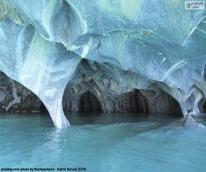 Układanka Jaskinie z marmuru, Chile