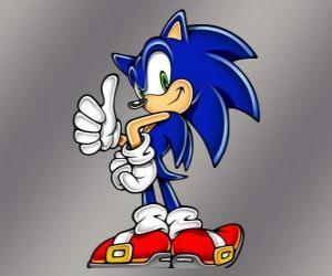 Układanka Jeż Sonic, głównym bohaterem gier wideo firmy Sega Sonic