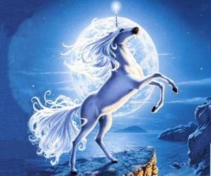 Układanka Jednorożec - koń z rogiem Młoda spirali