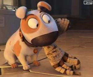 Układanka Jeff pies z ramieniem Mumia do ust