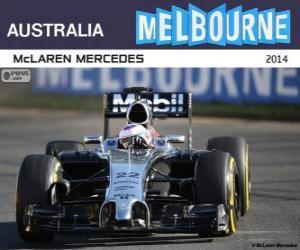 Układanka Jenson Button - McLaren - Grand Prix Australia 2014, 3 sklasyfikowane