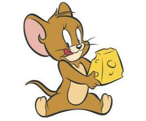 Układanka Jerry jedzenie pyszne kawałek sera