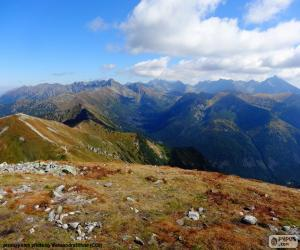 Układanka Jesień w wysokie góry