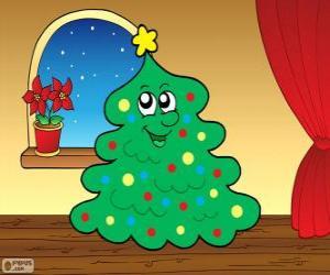 Układanka Jodła Boże Narodzenie