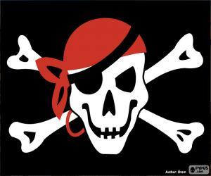Układanka Jolly Roger piracką flagę