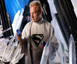 Układanka Jor-El Kryptonian naukowców i przywódców i biologicznego ojca Supermana.
