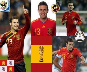 Układanka Juan Mata (kostki Magic) Reprezentacja Hiszpanii do przodu