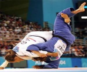 Układanka Judo - Dwa zawodnikami ćwiczyć