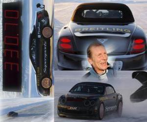 Układanka Juha Kankkunen, rekord prędkości na lodzie