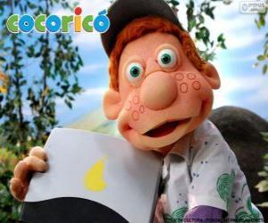 Układanka Julio, chłopca na farmie Cocorico