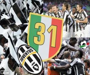 Układanka Juventus Turyn, mistrz Lega Calcio Serie A 2012-2013, piłka nożna liga włoska