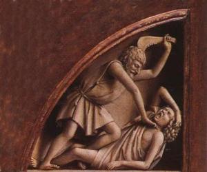 Układanka Kain, pierworodny syn Adama i Ewy, w czasie i zabił swego brata Abla