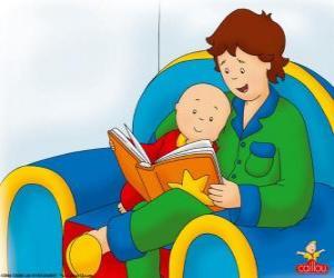 Układanka Kajtuś czyta książkę z ojcem