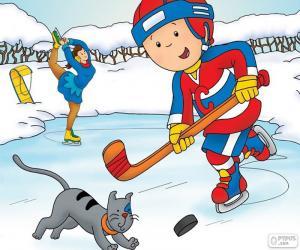Układanka Kajtuś i Gilbert, hokej