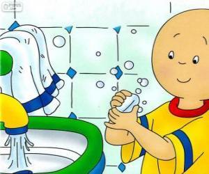 Układanka Kajtuś myje ręce