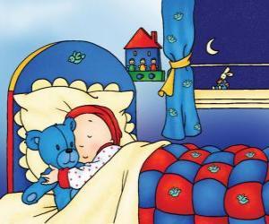 Układanka Kajtuś spanie