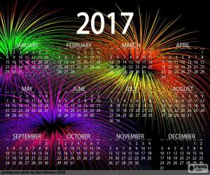 Układanka Kalendarz 2017, szczęśliwego nowego roku