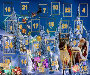 Układanka Kalendarz adwentowy